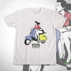 Vespa-Girl oleh PandirShop di Tees.co.id
