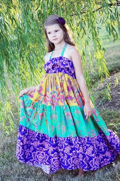 Cora's Tween Tiered Maxi Dress, Sun Dress, and Top PDF Pattern size 7/8 to 15/16 girls on Etsy, $13.50 AUD