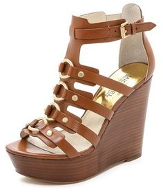 MICHAEL Michael Kors Nadine Wedge Sandals on shopstyle.com