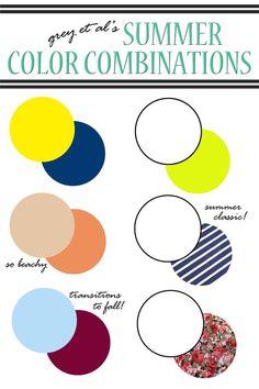 Grey et al color combinations: summer color combinations for clothes, color combos, color Color Combinations For Clothes, Color Combos, Color Schemes, Color Pairing, Colour Pallette, Color Stories, Dress Up, Fashion Colours, Color Theory