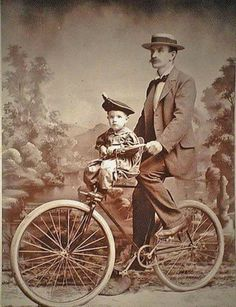 bike with front mounted child's seat.