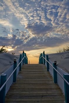 Beach front sky