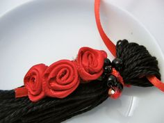 Red Roses on Black Valentines Ornament Gift #dteam