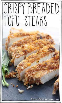 Crispy Breaded Tofu Steaks