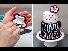 ZEBRA CAKE - How To - Cake Decorating Ideas by CakesStepbyStep - YouTube