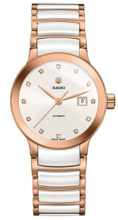 Rado Watch Centrix Sm #add-content #bezel-fixed #bracelet-strap-ceramic #brand-rado #case-material-rose-gold #case-width-28mm #date-yes #delivery-timescale-call-us #dial-colour-white #gender-ladies #luxury #movement-automatic #official-stockist-for-rado-watches #packaging-rado-watch-packaging #style-dress #subcat-centrix #supplier-model-no-r30183742 #warranty-rado-official-2-year-guarantee #water-resistant-30m