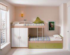 quarto menina e menino apartamento pequeno - Pesquisa Google
