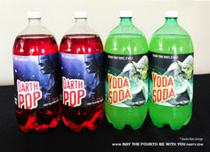 Star Wars Food: Downloadable Yoda Soda and Darth Pop 2 Liter Labels /// Check…