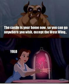 Beauty and the Beast - YOLO...the only time I will EVER like anything YOLO related