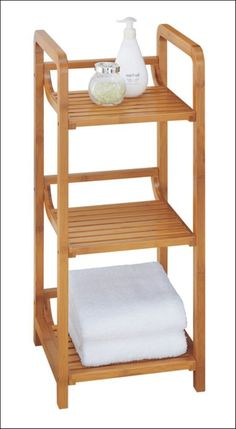 Xingyuan Collapsible 3-Tier Bamboo Bathroom Space Saver