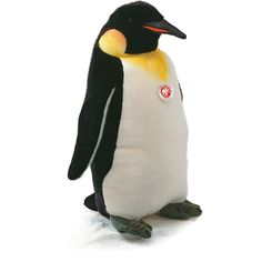 Steiff Penguin Stuffed Animal ($390) ❤ liked on Polyvore featuring kids toys plush toys and white