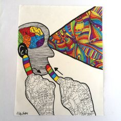 "Deaf Art - ""Deaf Artist's Strength"" © Copyright Ashley Shaffer (www.etsy.com/shop/ashmariesha) Deaf Sign, Sign Language Art, Deaf Art, Libra, Alphabet, Deaf Culture, Community Art, Beautiful Artwork, Architecture Art"