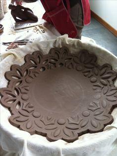 My pottery plate in progress