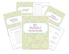 YGet your Family Binder Templates today...