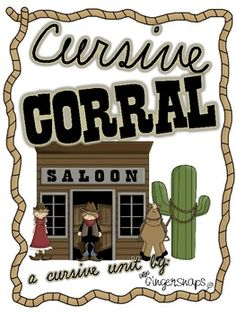 This Western themed cursive writing unit includes:A Wanted: Cursive Writers posterOrder of Teaching sheetCursive practice pages for A-ZWe...