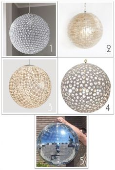disco balls. because you need a party in your house.