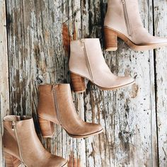 Charlie Tumble Boots in Nude + Dark Taupe #muraboutique #billini #boots #flatlay