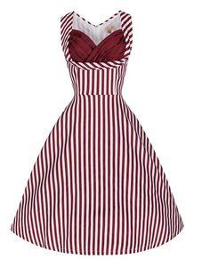 striped lindy bop dress seen on offbeat bride