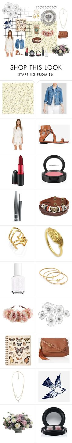 """""""Lace Theme"""" by izzy-b9 on Polyvore featuring Brewster Home Fashions, Paige Denim, Just Cavalli, Barbara Bui, MAC Cosmetics, Bling Jewelry, Jennifer Zeuner, NOVICA, Essie and Madewell"""