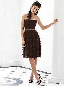 After Six Style 6649 #brown #bridesmaid #dress