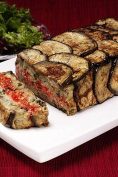 Greek Vegtable Terrine It's like a vegetable meat loaf! Vegetable Recipes, Vegetarian Recipes, Cooking Recipes, Healthy Recipes, Veggie Greek Recipes, Greek Vegetables, Veggies, A Food, Food And Drink