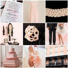 Color Palette: Pale Pink and Black | WeddingWire: The Blog