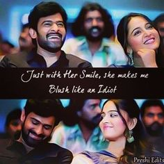 Awww Movie Love Quotes, Need Quotes, Favorite Movie Quotes, Anushka Pics, Prabhas And Anushka, Weird Facts, Fun Facts, Filmy Quotes, Prabhas Pics