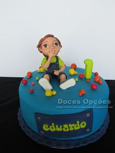 Doces Opções: Bolo para o 1º aniversário do Eduardo
