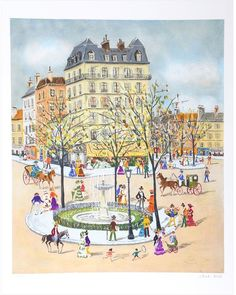 RoGallery Fountain by Claude Tabet (Lithograph)
