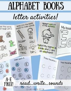 These alphabet activity books are a great way to consolidate letter knowledge…