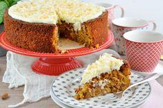 Karottenkuchen ohne Mehl und mit Frischkäsetopping, laktosefrei – saftig, krümelig, lecker Banana Bread, Carrots, Cheesecake, Muffin, Pie, Breakfast, Desserts, Buddha, Carrot Cakes