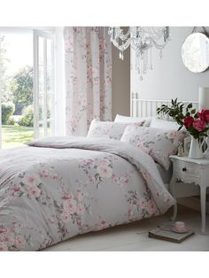 Daniella floral comforter snooze set pinterest comforter latest catherine lansfield canterbury duvet cover and pillowcase set in single double and king sizespink carnations mightylinksfo
