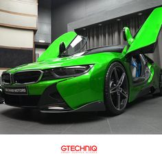 THE #BMW i8 plug in hybrid sports car equipped with AC Schnitzer Carbon Aerodynamic accessories in Java Green Metallic. Available EXCLUSIVELY at BMW Abu Dhabi Motors Gtechniq Middle East are proud to supply our premium coating #CrystalSerum EXCLUSIVELY in Abu Dhabi to BMW Abu Dhabi Motors#. The world's largest and most exclusive BMW dealership. There is no tougher protection available for your car.