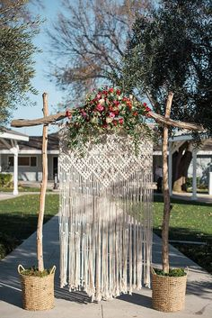 Macrame Wedding Backdrop for BoHo wedding