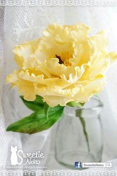Peony in yellow http://www.facebook.com/sweetieneko