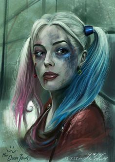 A wonderful painting of Harley Quinn.