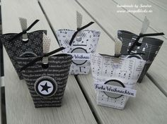 Box in a bag – Weihnachtslieder – Gift Box – Box Design Christmas Crafts For Gifts, Christmas Gift Box, Christmas Carol, Craft Gifts, Xmas, Paper Bag Crafts, Diy Paper, Stampin Up Weihnachten, Crochet Patron
