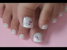 Pedicure Nail Art Design, If you've got hassle decisive that color can best suit your nails, commit to mirror this season or your mood! Pedicure Nail Art, Pedicure Designs, Toe Nail Designs, Toe Nail Color, Toe Nail Art, Nail Colors, Feet Nail Design, Pretty Toe Nails, Summer Toe Nails