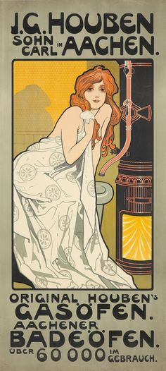 Art Nouveau Poster, Art Deco Posters, Vintage Posters, Vintage Illustration Art, Illustration Art Drawing, Illustrations, Liberty, Jugendstil Design, Abstract Digital Art