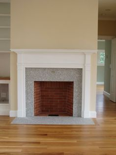 The Maine Building Company....Rumford Fireplace in a Maine Cottage...Quarter Sawn Oak Floors     www.facebook.com/maine.builder.7