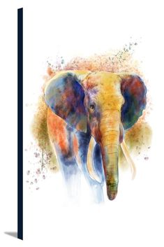 African Elephant, Watercolor, Lantern Press Artwork Stretched Canvas Prints High grade, artists cotton canvas Kiln dried pine stretcher bars Hardware attached to back, ready to hang Multiple sizes available, Made in the USA! Vintage Posters, Vintage Art, Vivid Imagery, African Elephant, Stretched Canvas Prints, Large Art, Elephant Watercolor, 1000 Piece Jigsaw Puzzles, Lanterns