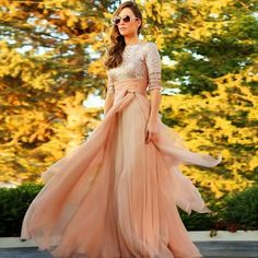 2017 New Fashion Half Sleeves Muslim Prom Dress Chiffon with Pleat O-Neckline Long Prom Dresses A Line vestido de festa