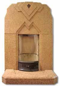 """art deco fireplace"""