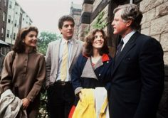John F. Kennedy Jr., second from left, listens to his uncle Ted Kennedy, right, with his mother Jacqueline Kennedy Onassis, left, and sister Caroline Kennedy, second right, at his graduation from Brown University, Providence, R.I., in this June 4, 1983 photo.