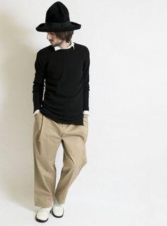 4b1e340209e Cotton stretch Chino 1 tuck wide pants 詳細画像 Beige 8