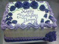 Purple roses birthday cake