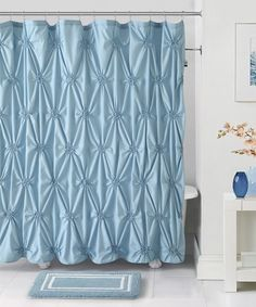 Look what I found on #zulily! Blue Fiona Shower Curtain, Hooks & Bath Rug by Victoria Classics #zulilyfinds