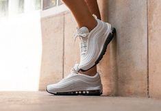 reputable site 65a80 7d6ba Nike W Air Max 97 Leather - Summit White Black amp White Trainers