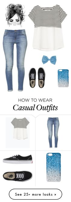"""casual"" by j7nelleezsb on Polyvore featuring Zara, Vans and Marc by Marc Jacobs"
