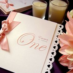 romantic invitations for baby girls 1st birthday by Design for Eternity on Etsy